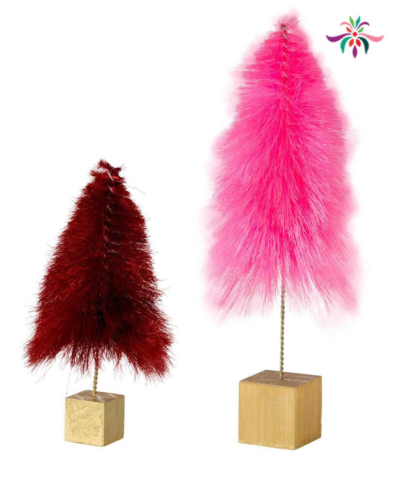 """Mini Tree - Pink - Large - 13.25""""H"""