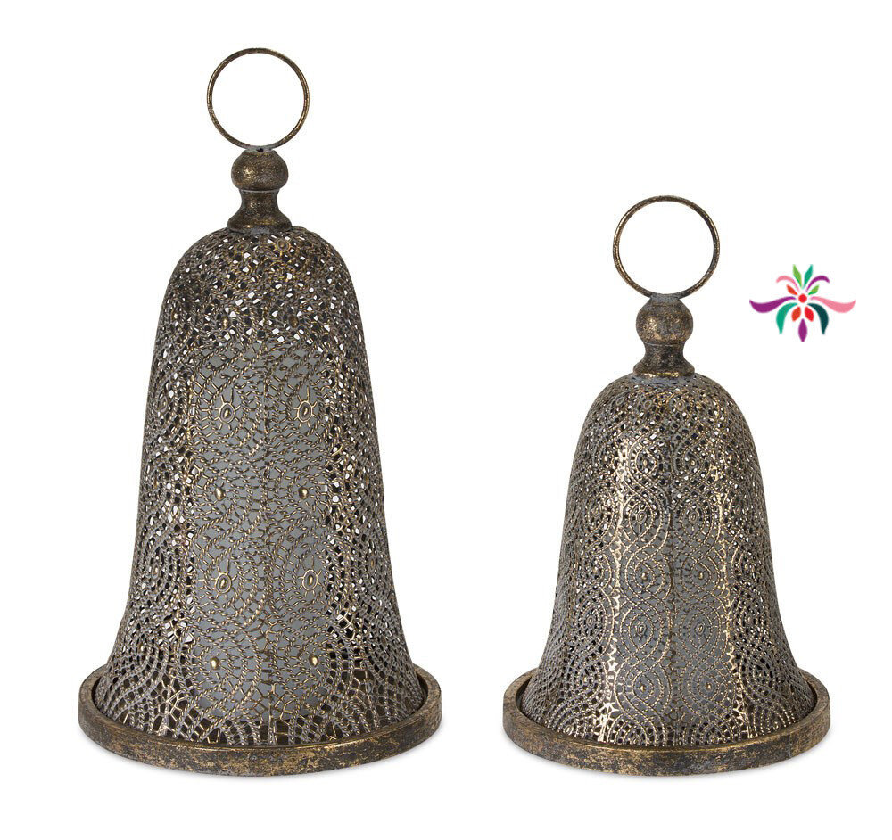 "Metal Bell - Gold - Small - 12""H"