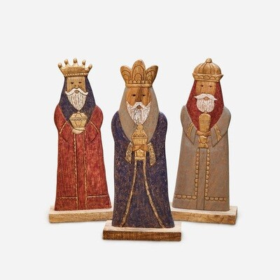 Three Kings - Vintage Wood - 23.5