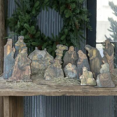 Wooden Tabletop Nativity Scene