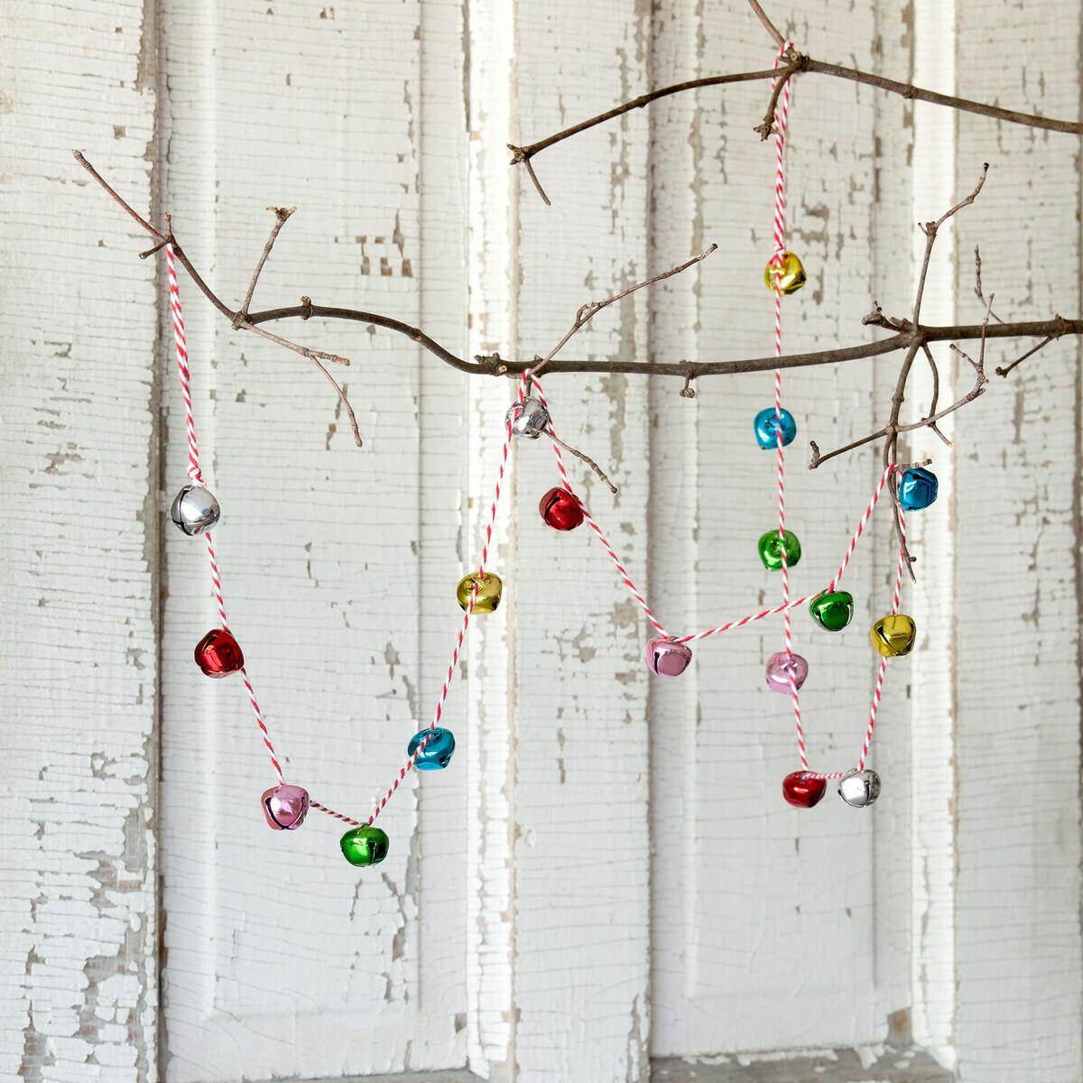 """Jingle Bell Garland - Multicolor - 55""""L"""