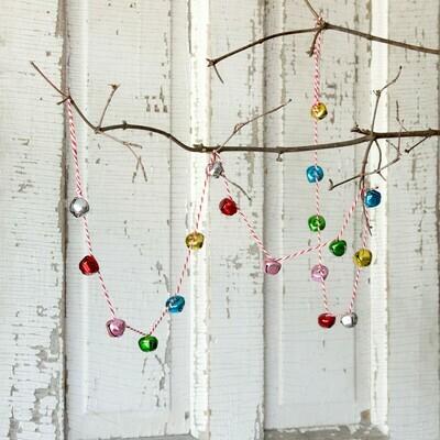 Jingle Bell Garland - Multicolor - 55