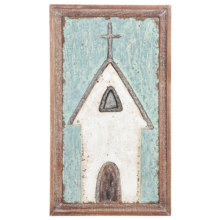 "Church Wall Art - Wood - 26.5""H"
