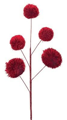 Pom Pom Spray - Dark Red - 25