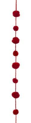 Pom Pom Garland - Dark Red - 7'L