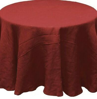 Burlap Tablecloth - Rust - 96