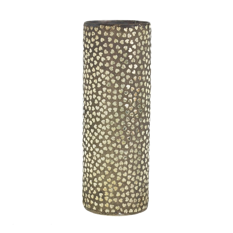"Heartbreaker Vase - Metal - Large - 12""H x 4""W"