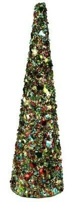 Sequin Glitter Cone - Multicolor - Large - 18