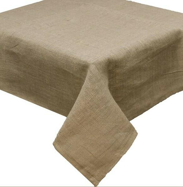 """Burlap Tablecloth - Natural - 54""""Sq"""