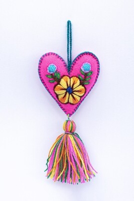Small Heart Ornament - Pink