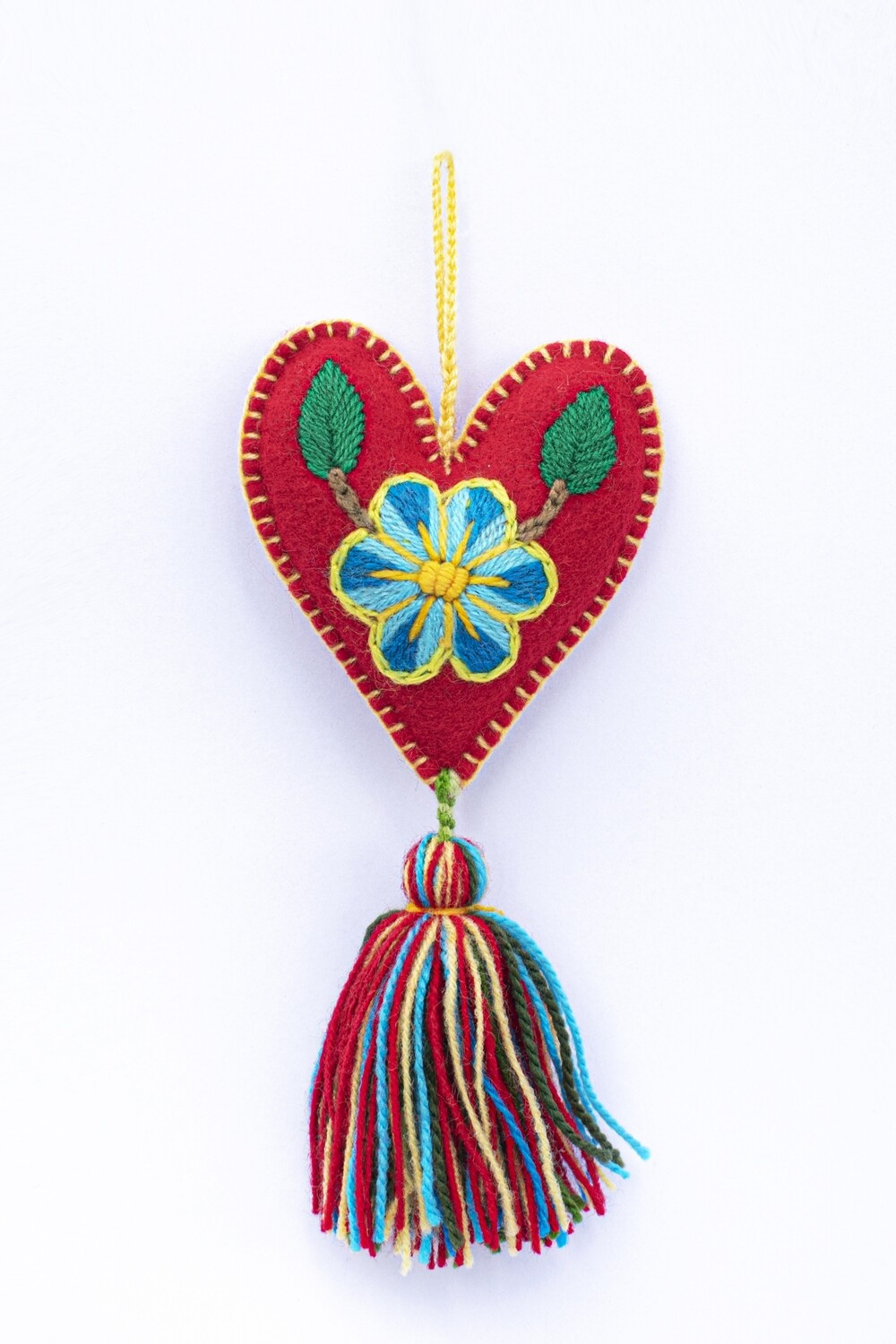 Small Heart Ornament - Red