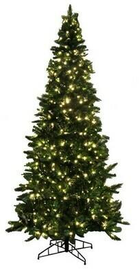 Green Tree - Apache Pine - Prelit Warm White - 9'H