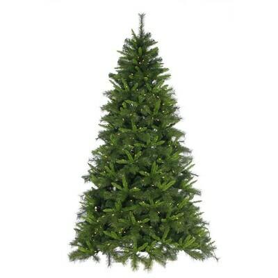 Green Tree - Draped Savannah Tree - Prelit Warm White - 6'H