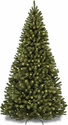 Green Tree - Prelit Warm White - 6'H