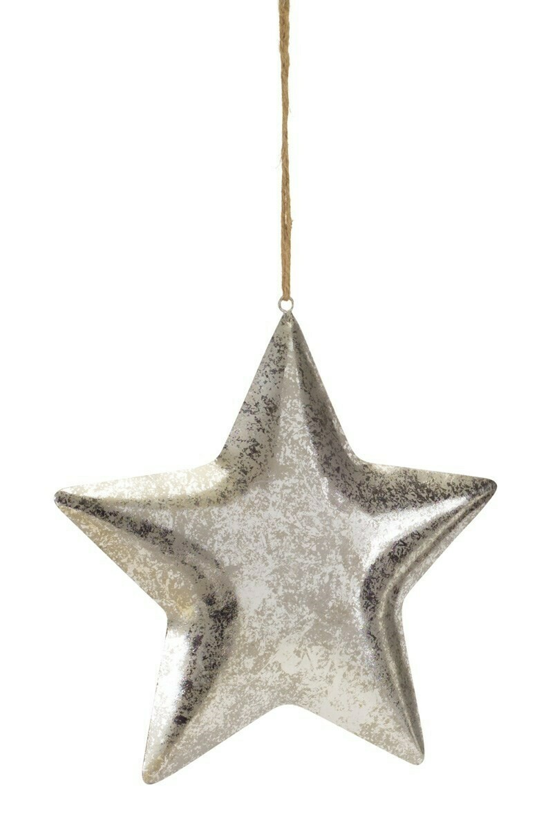 "Star Ornament - Metal - 14""H"