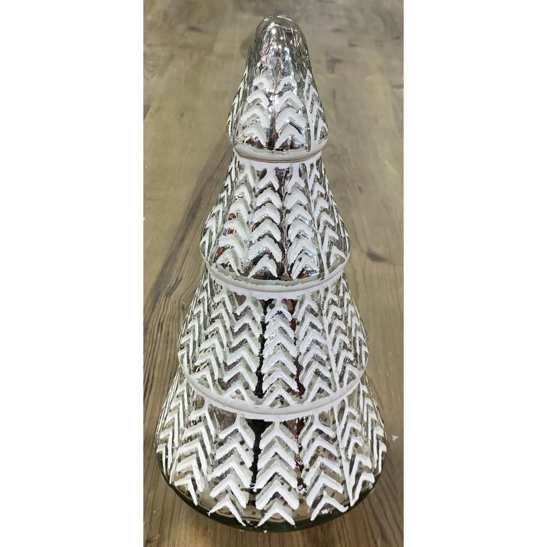 "Mercury Glass Tree - Silver & White - Small - 10""H x 5.25""W"
