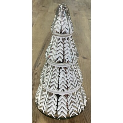 Mercury Glass Tree - Silver & White - Large - 12.25