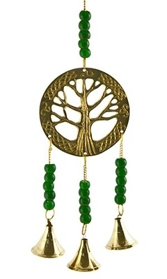 My Mystic Tree of Life Brass Chime W/ Beads 11