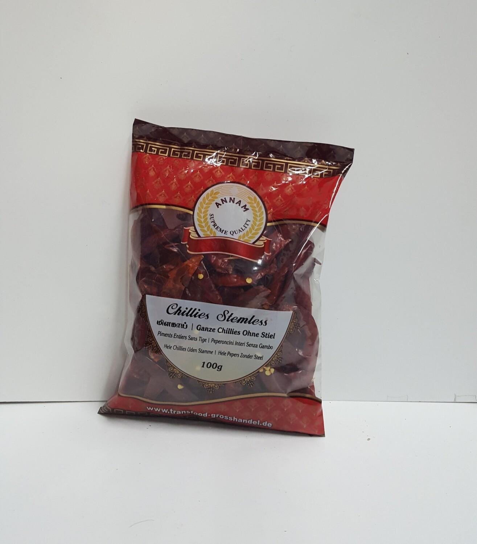 Chillies stemles ( ANNAM ) 100 g