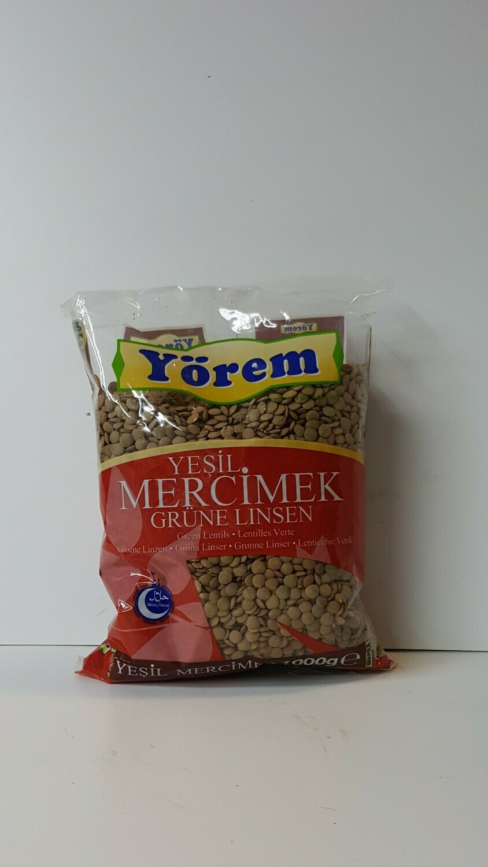 Yesil Mercimek Grune Linsen YOREM 1Kg