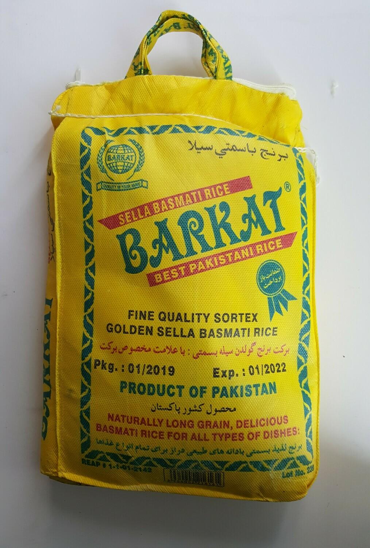 Sella Basmati Rice BARKAT 5Kg