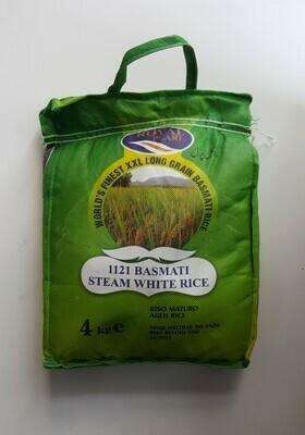 Basmati Steam White Rice ROYAL PEARL 4Kg