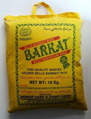 Sella Basmati Rice BARKAT 10Kg