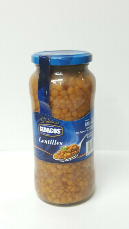 Lentilles CIDACOS 570 g