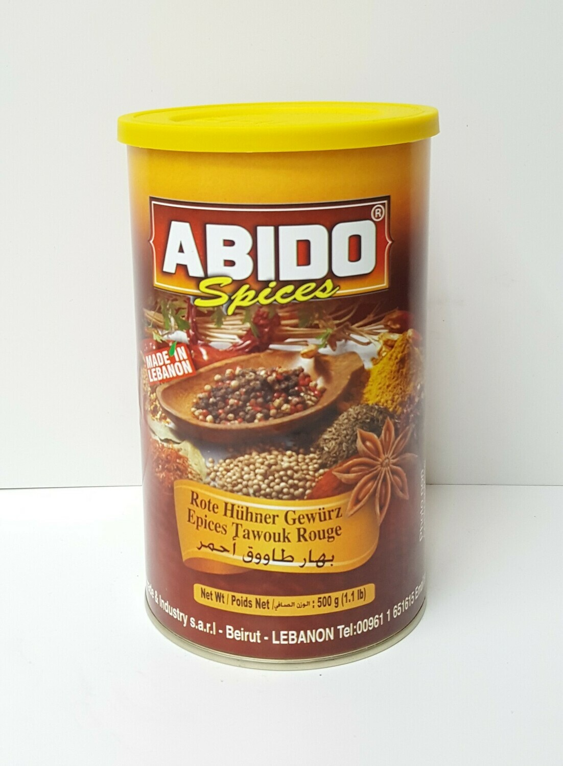Epices Tawouk Rouge ABIDO SPICES 500 g
