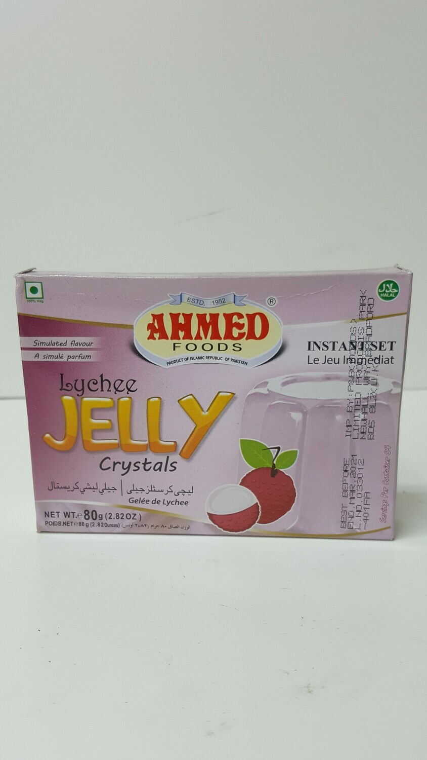 Lychee Jelly Crystals AHMED 80 g