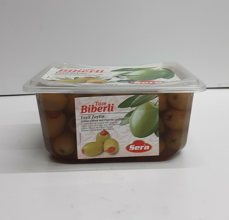 Olives farcies avec du Poivron BIBERLI 150 g