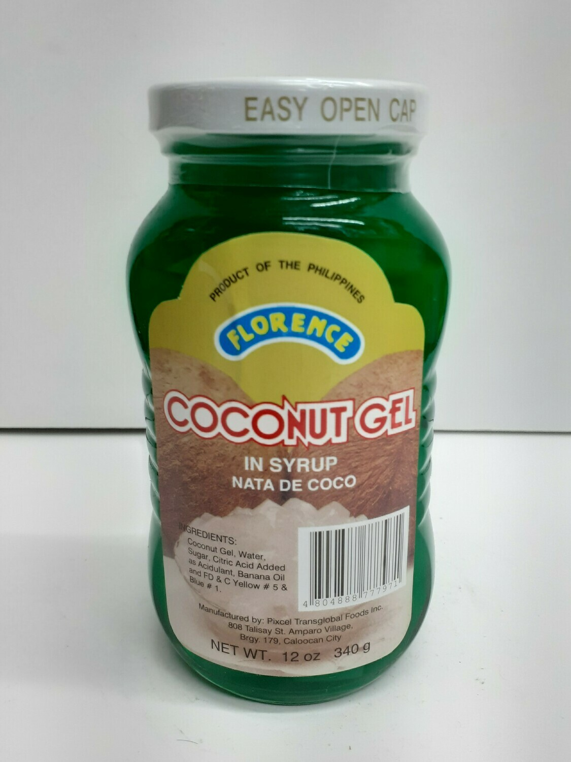 Coconut Gel in syrup FLORENCE 340 g