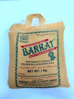 Golden Sella Basmati Rice BARKAT 1Kg