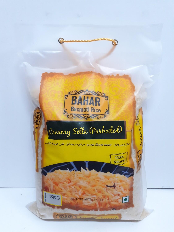 Creamy Sella Basmati Rice BAHAR 5 Kg