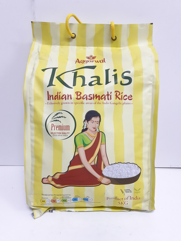 Indian Basmati Rice KHALIS 5 Kg