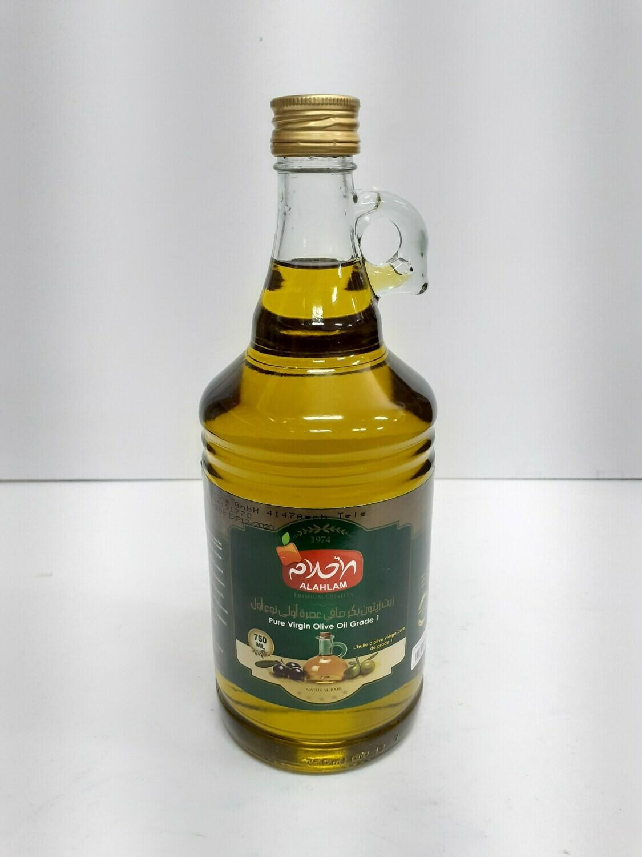 Pure Virgin Olive Oil Grade 1 ALAHLAM 750 ml
