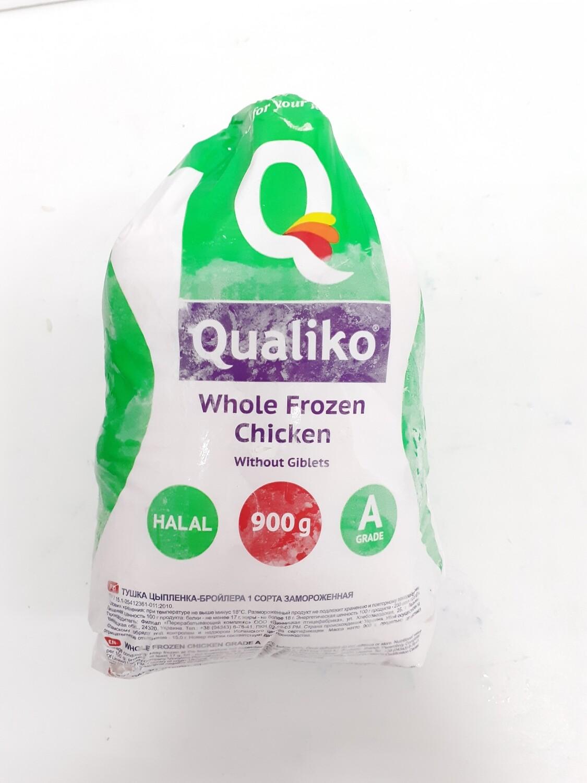 Whole Frozen Chicken QUALIKO 900 g