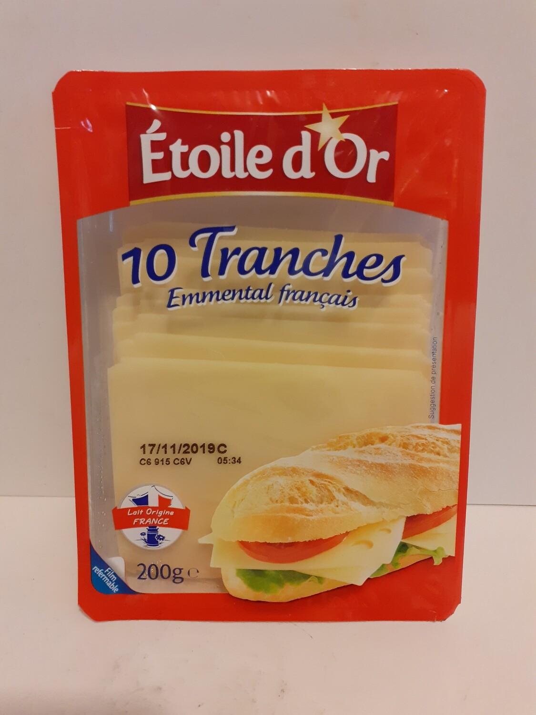 10 Tranches Emmental Français  ETOILE D'OR 200 g