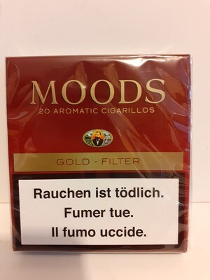 20 Aromatic Cigarillo Gold Filter MOODS