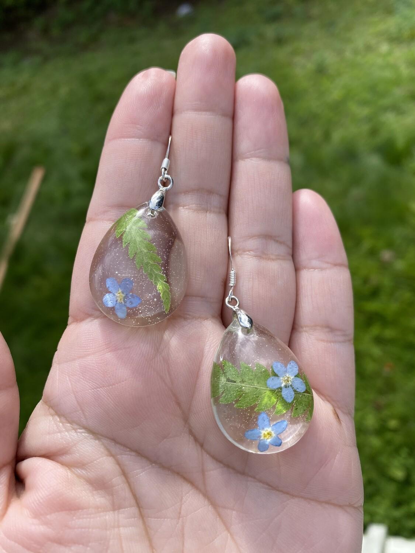 Forget-me-not, flower earrings