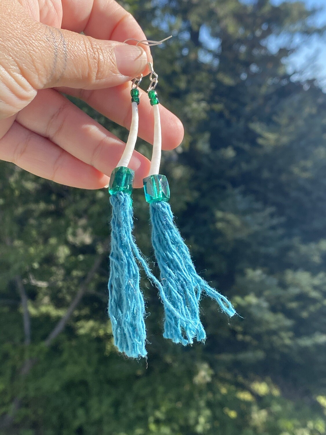 Sugpiaq tassel inspired earrings