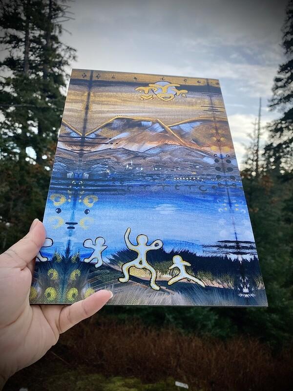 Sugpiaq painting print : story 1