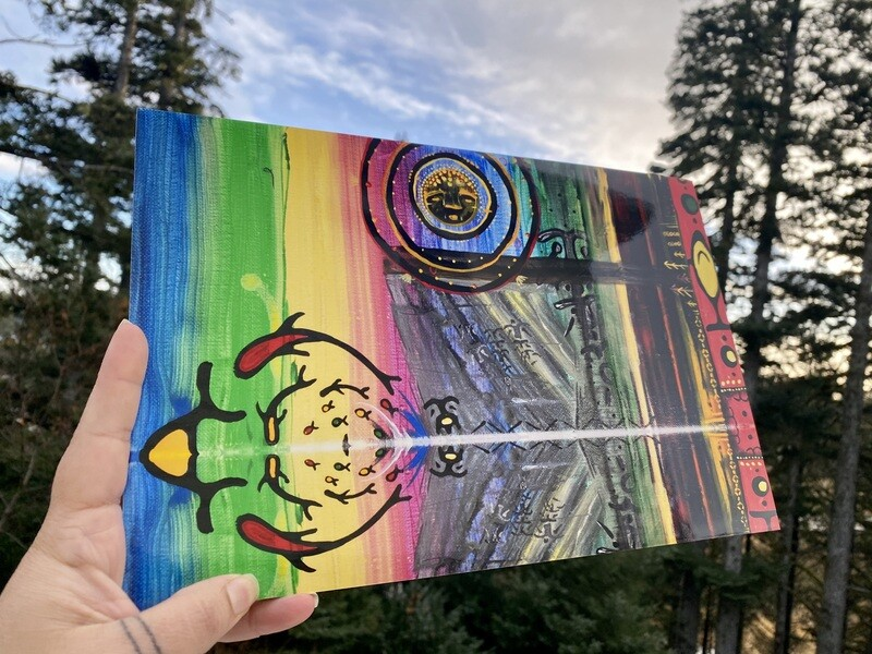 Sugpiaq painting print : Ag'waneq