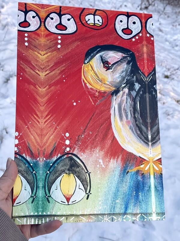Sugpiaq painting print : Tunngaq