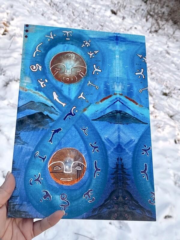 Sugpiaq painting print : Cuuliallrat