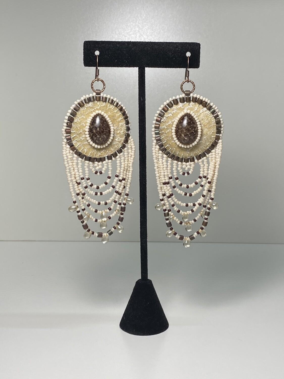 salmon skin earrings