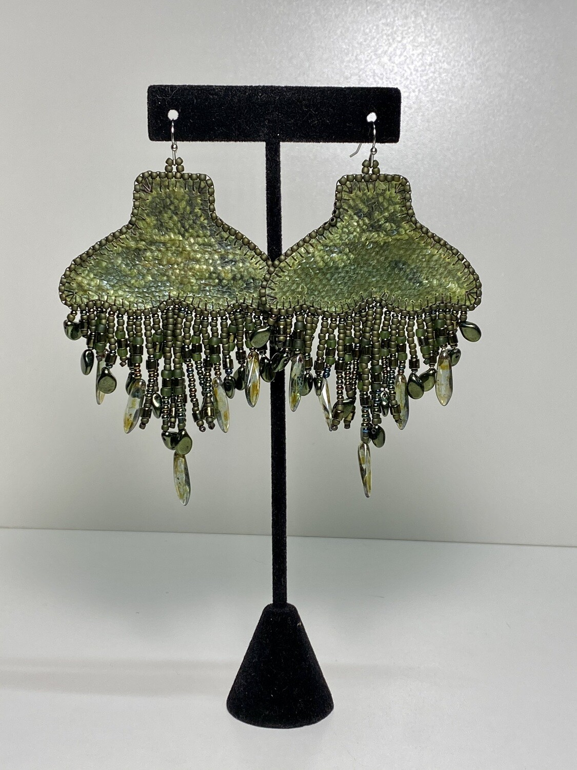 olive - Whale Tail chandelier earrings