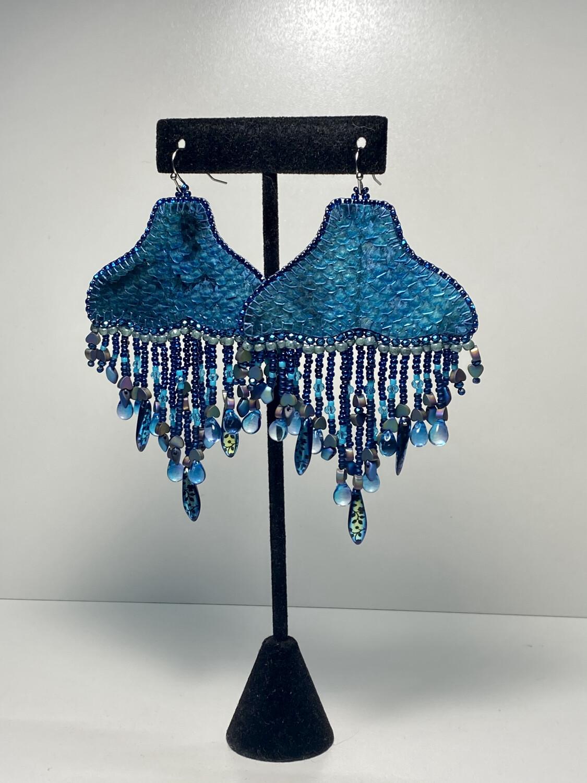 1 - Whale chandelier earrings