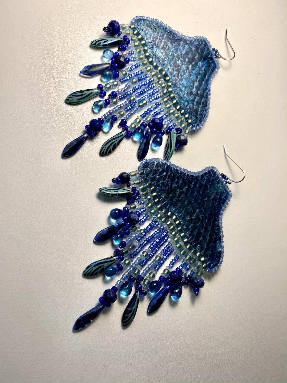 Whale chandelier earrings