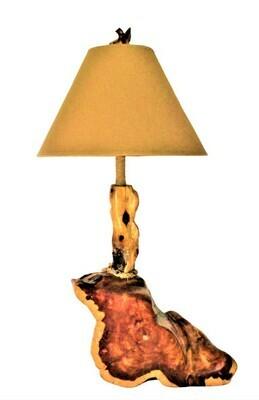 Rustic Cedar Abstract Boot Lamp